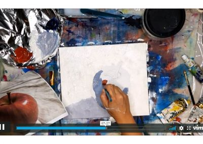 Acrylics Basics Online Class - Screenshot - Excercise